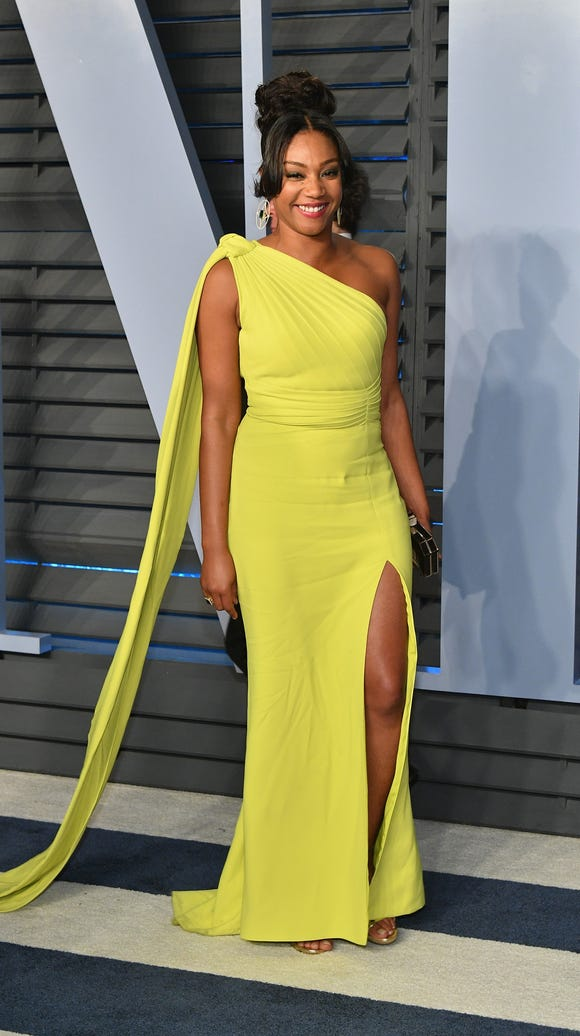 Outfit No. 3! Haddish got on another dress before the