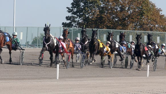 Resolve, at left, driven by Ake Svanstedt. , won the