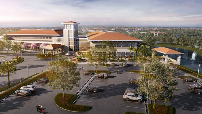 Rendering of the planned Lee Health - Coconut Point medical campus in Estero.