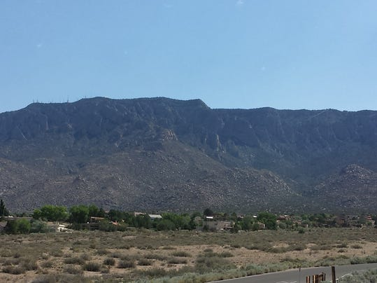 The Sandia Mountains in Albuquerque, New Mexico.