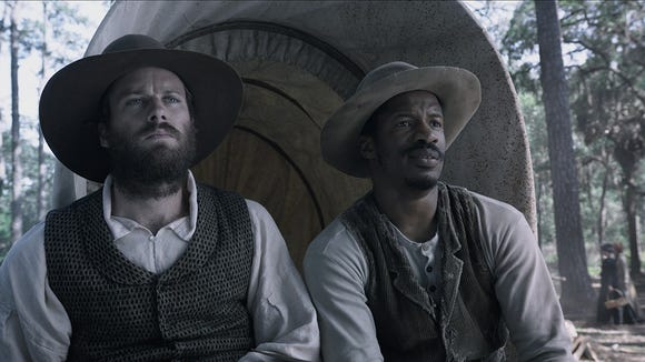 "Nate Parker plays Nat Turner, who led an 1831 rebellion of African Americans in Virginia, in the new film, ""The Birth of a Nation."""