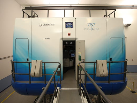 Boeing opened its new training facility in Miami on Aug. 29, 2013. Among the 17 flight simulators that will be on campus are two for the 787 Dreamliner.