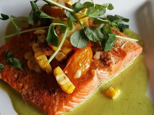 In addition to prime rib and steak, Michael's also takes pride in serving up top-tier seafood, such as the wild sockeye salmon.
