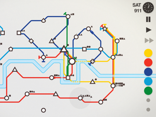 Planning out public transportation in Mini Metro is