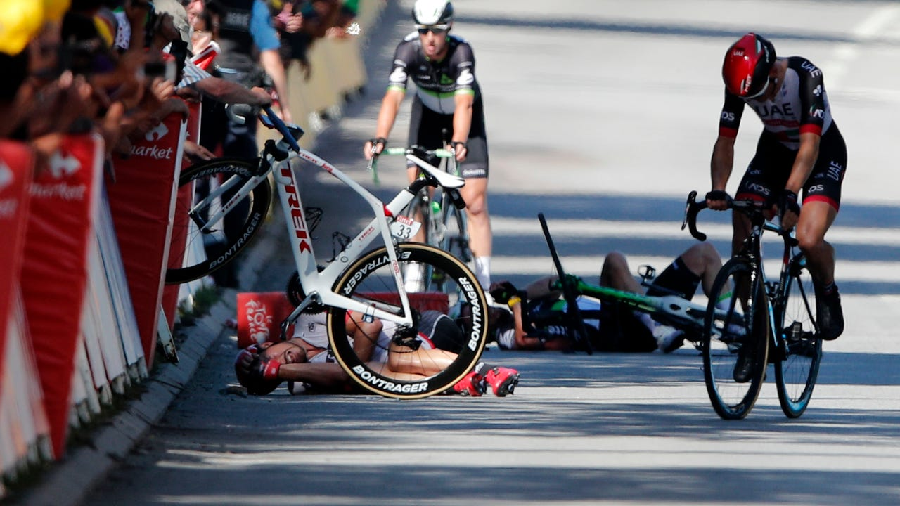 Peter Sagan apologized after elbowing Mark Cavendish, which caused a crash and fractured Cavendish's shoulder blade.
