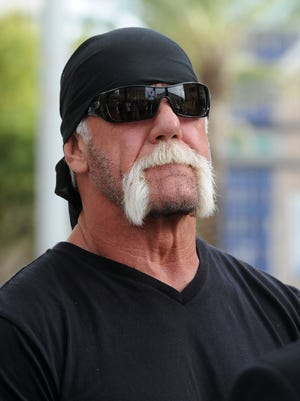TV personality Terry Bollea aka Hulk Hogan attends a press conference to discuss legal action being brought on his behalf October 15, 2012 in Tampa, Florida.