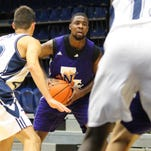 Sabri Thompson, a senior guard for Northwestern State, poured in 34 points Wednesday night, sinking 12-of-15 shots, making all seven of his 3-point tries and 3-of-4 at the free throw line. He also snatched three steals.