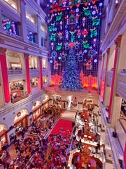 A Philadelphia tradition since 1956, the free Christmas Light Show at Macy's in Center City illuminates the Wanamaker building, a National Historic Landmark, with almost 100,000 LED lights and finishes with sounds from the Wanamaker Organ.