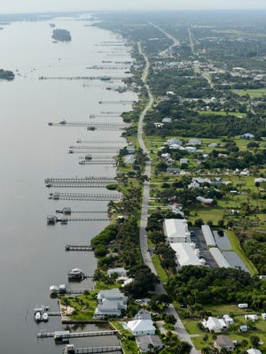 Waterfront south view on the Indian River Lagoon in Sebastian on Sept. 23, 2013.