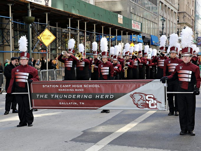 Station Camp High School's marching band, the Thundering