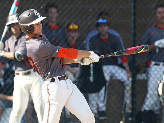 Pascack Hills Spenser Berson connects for a triple