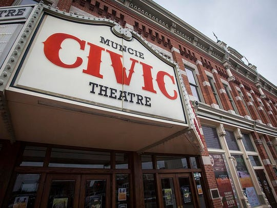 The Muncie Civic Theatre in downtown Muncie.