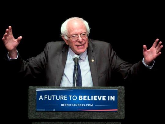 In this June 24, 2016, file photo, Sen. Bernie Sanders,