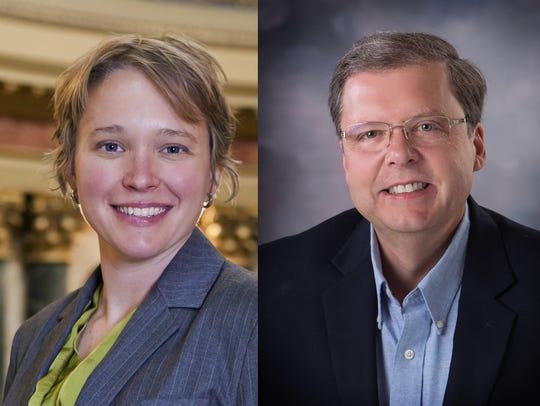 Democrat Mandy Wright (left) and Republican Pat Snyder