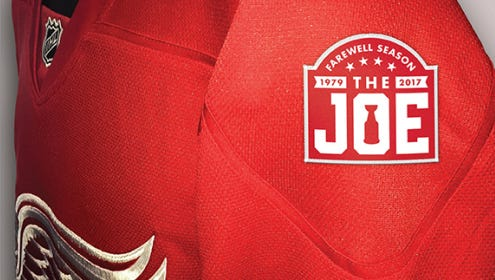 This is the patch the Wings will wear on their sweaters next season.
