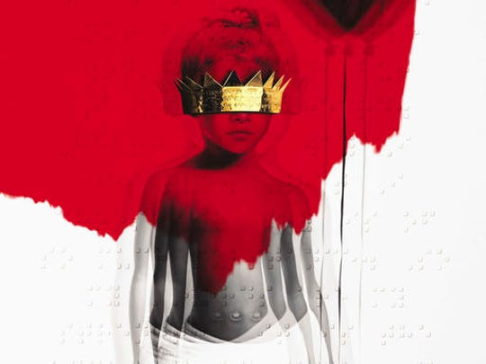 "This cover image released by Roc Nation shows ""Anti,"""
