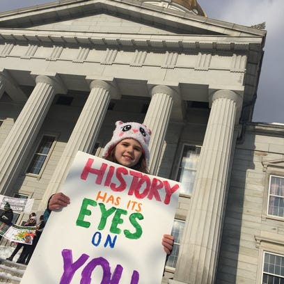 Vermont youth take the lead at rally a year after Trump's inauguration