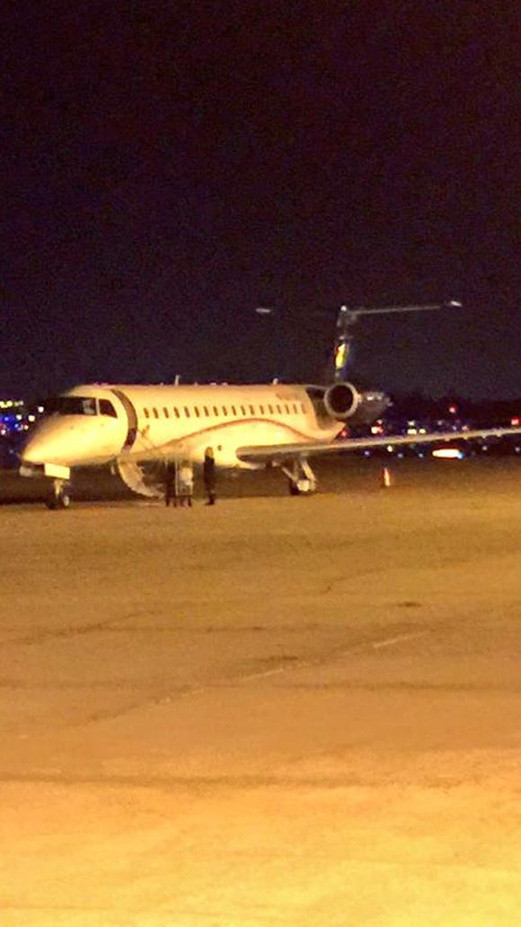 Mississippi State's team plane needed to make an emergency landing on Saturday after an engine failed.