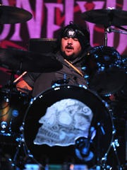 Ringo Garza Jr. of Los Lonely Boys performs at a concert at The Greek Theatre on July 29, 2011, in Los Angeles.