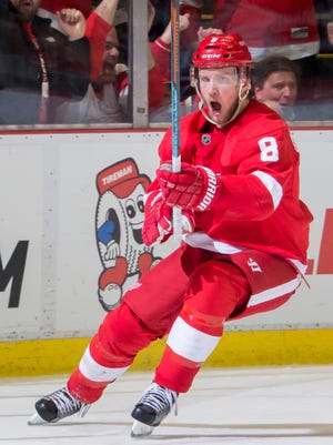 Justin Abdelkader will make $1.8 million this coming season and then could be an unrestricted free agent.
