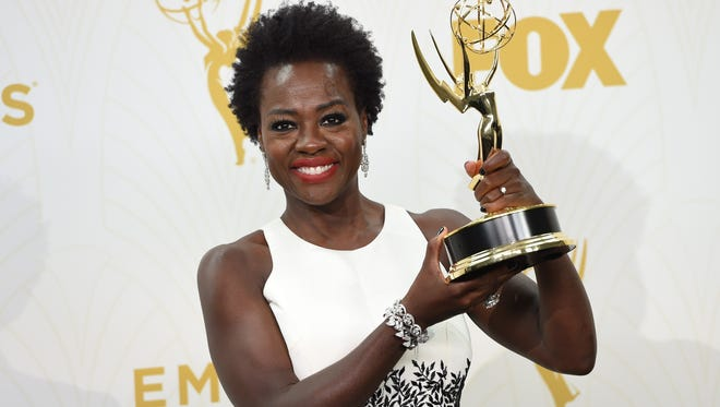 Viola Davis with her Emmy for Outstanding Lead Actress in a Drama Series, at 67th Emmy Awards, September 20, 2015 in Los Angeles.