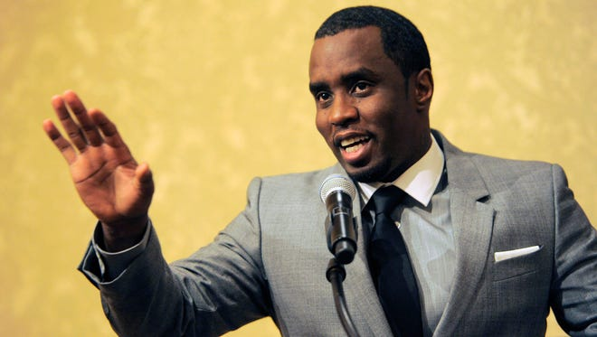 "Sean ""Diddy"" Combs of the new network Revolt TV addresses reporters at the Beverly Hilton Hotel in Beverly Hills, California on July 26, 2013. Police say hip-hop music mogul Combs has been arrested on the campus of the University of California, Los Angeles. UCLA police spokeswoman Nancy Greenstein confirmed that Combs was taken into custody by campus officers on Monday, June 22, 2015. Greenstein did not immediately provide further details."