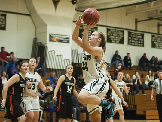 Midelbury vs. Winooski Girls Basketball 12/17/16