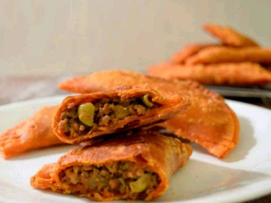 Beef empanadas from Puerto Rico Restaurant in Windsor