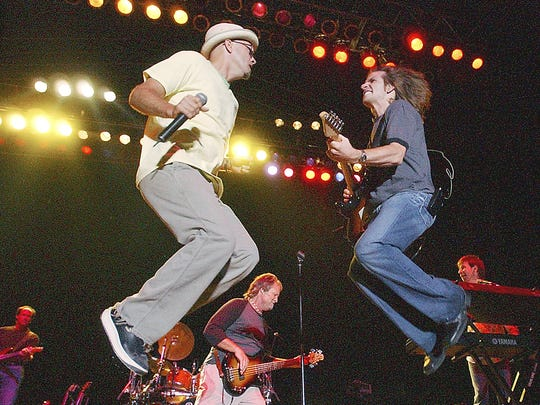 Sawyer Brown lead singer Mark Miller, left, has performed in Oshkosh multiple times at Country USA, but Saturday, May 5, 2018, will be the band's first appearance at the Menominee Nation Arena. The arena also is home of the Wisconsin Herd, and one of the team's members, JeQuan Lewis, has a close bond with Miller.