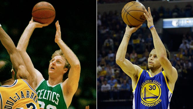 Gregg Doyel argues Larry Bird is the best shooter ever, not Steph Curry.