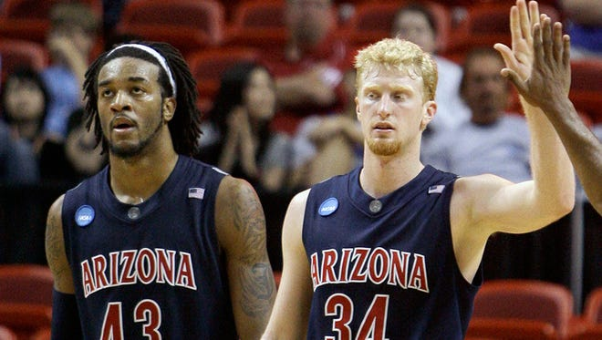 Jordan Hill and Chase Budinger were teammates at Arizona, and again with the Houston Rockets.