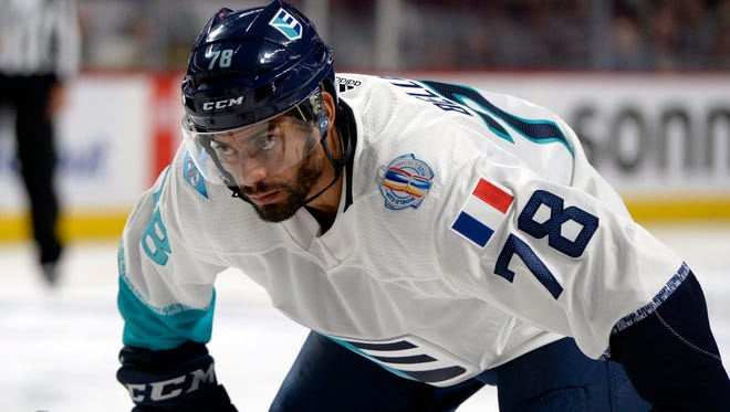 Pierre-Edouard Bellemare returns to the Flyers after the World Cup at center, but that may change.