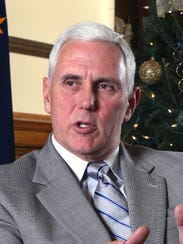Indiana Gov. Mike Pence is pondering a White House