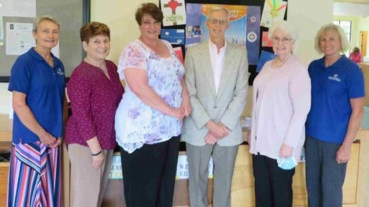 The six new Stephen Ministers commissioned, pictured left to right, are: Marsha Asbury, Bertie Sargis, Kelly Cheatham, Michael Dahnert, Norma Unthank and Pamela Rumer.