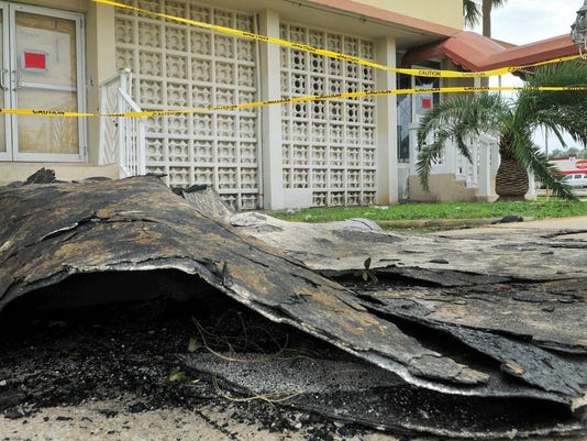 BAY TOWERS RESIDENT ASKED TO EVACUATE AFTER ROOF GETS BLOW OFF BY  HURRICANE MATTHEW