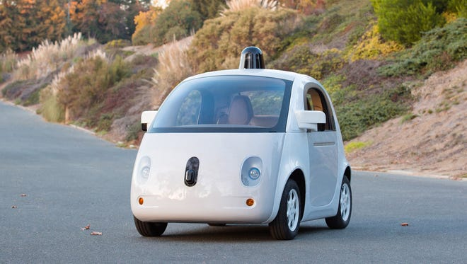 The first real build of Google's self-driving vehicle prototype.