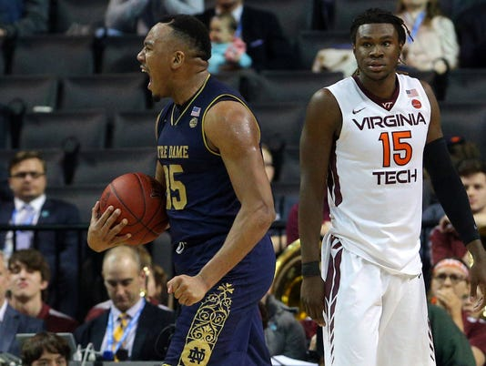 NCAA Basketball: ACC Conference Tournament-Virginia Tech vs Notre Dame