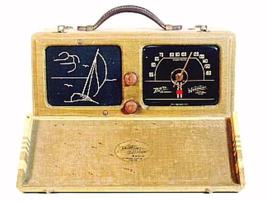 "A Zenith ""Companion"" portable radio."