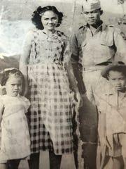 This historic photo shows Filipino WWII veteran Julian