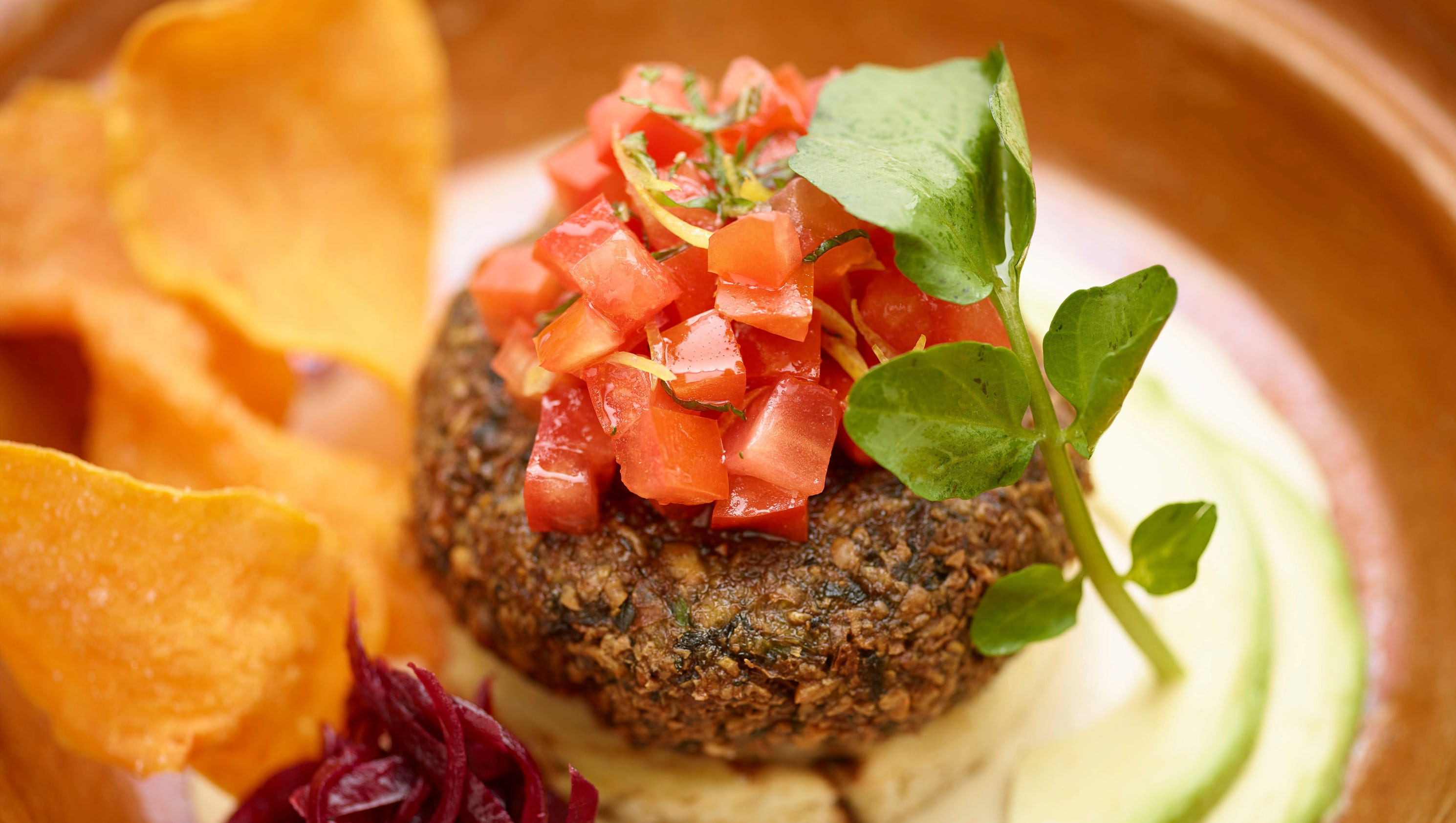 Falafel challah burger is a twist on a go-to to-go favorite