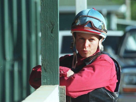 Jockey Julie Krone at Monmouth Park in 1997.