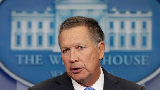 Ohio Gov. John Kasich during a September visit to the