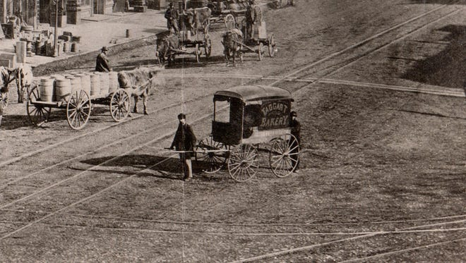 Oxen or manpower were used at Washington and Pennsylvania during the 1872 Epizootic outbreak.