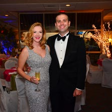 Cera and Devon Benbow at the Pensacola Yacht Club's Ladies Dinner Dance.<br /> For this story and more stories and photos, see the October issue of Pensacola Bella Magazine, and go to www.BellaMagazine.com.