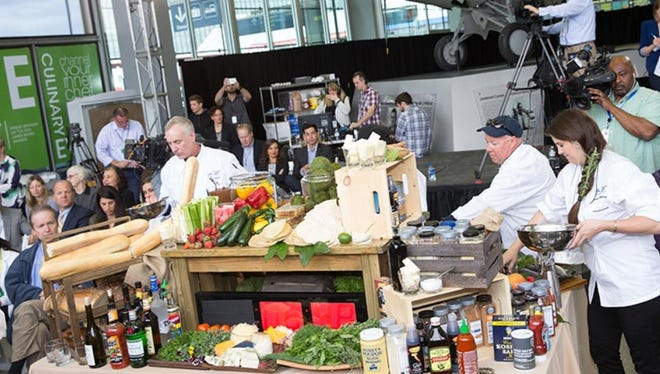 A scene from the 2015 Channel Your Inner Chef cook-off at O'Hare Airport. The 2016 cook-off takes place March 22.