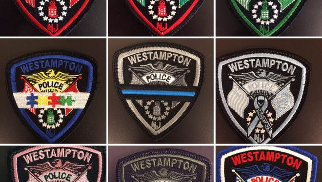 Beginning Independence Day,  Westampton Police will wear the first of several new awareness-themed patches.