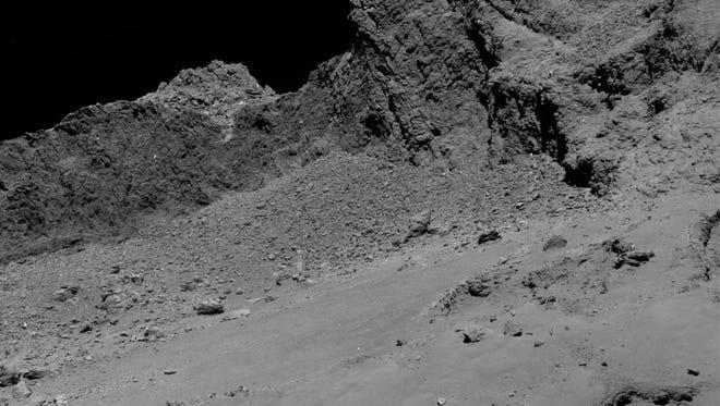 Final descent images from Rosetta spacecraft.