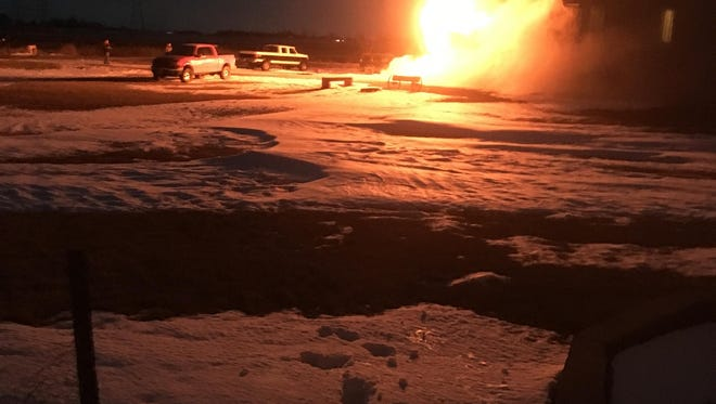 A house south of Sioux Falls erupted in flames the night of Thursday, Dec. 22.