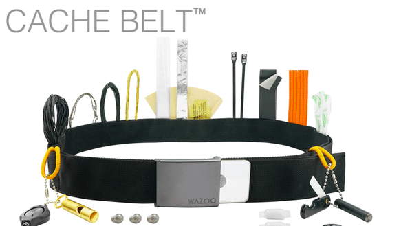 The Cache Belt conceals tools for travel, the outdoors