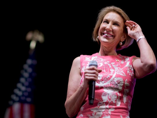 Carly Fiorina speaks at the RedState Gathering on Aug.